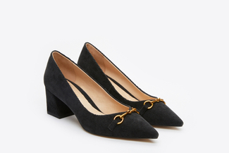 023-3 Black Corduroy Pumps