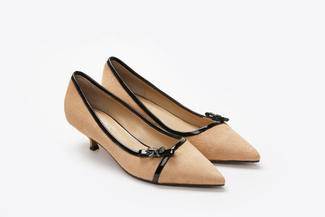 0543-5 Almond Pointy-Toe Pumps