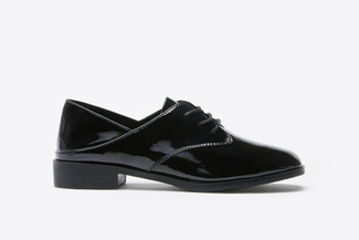 179-10A Black Two-Way Lace-Up Oxfords