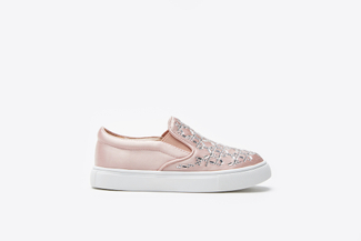 BB1886-2 Kids Pink Rhinestone Sneakers