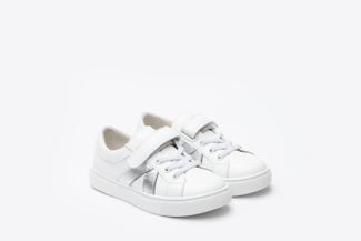 BB8988-23 Kids White Classic Sporty Sneakers