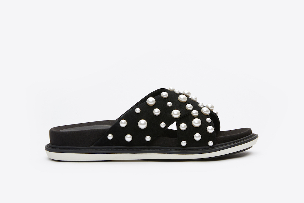 2d18e573e2d6f ... Black Pearl Embellished Slide Sandals. previous. previous. Share