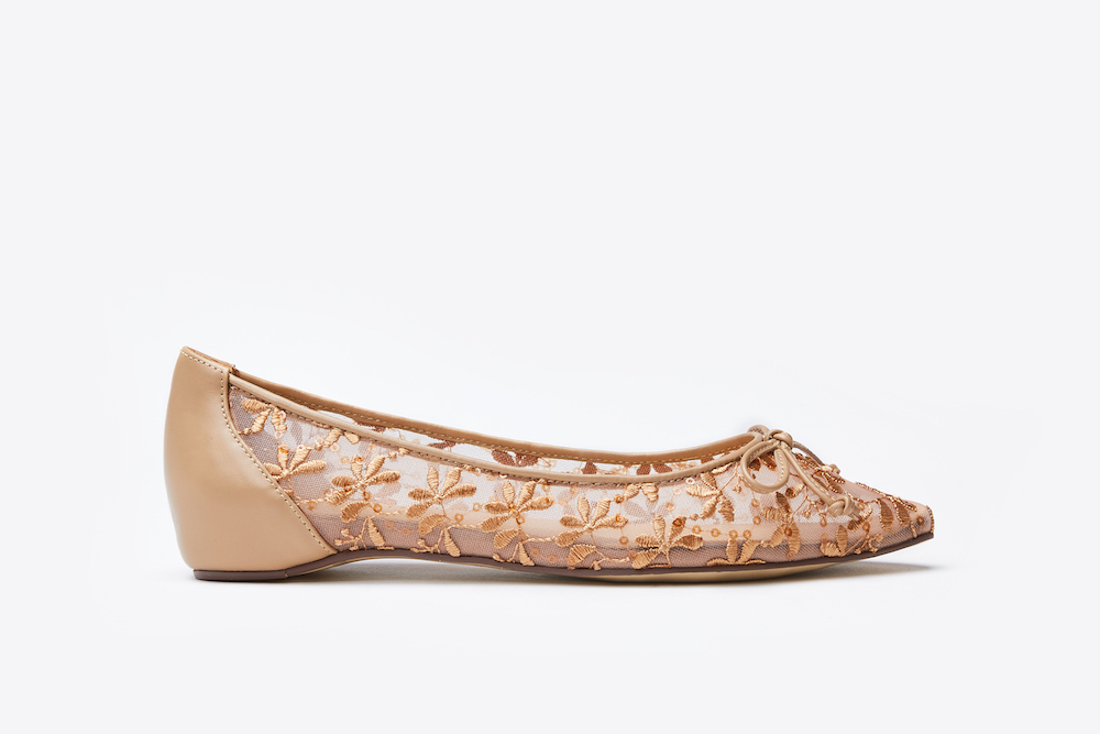 the best attitude recognized brands special for shoe 1639-12 Almond Floral Embroidered Flats