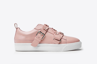 8626-1 Pink Floral Embellished Sneakers