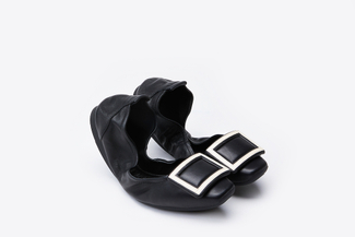936-10 Black Monochrome Foldable Flats