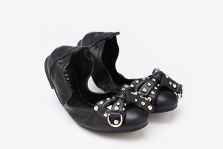 986-96 Black Statement Foldable Flats