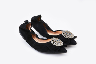 A3660-13 Black Jewel Brooch Foldable Flats