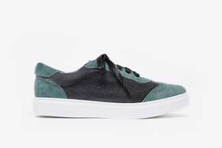 1310-51 Green Athleisure Laced Sneakers