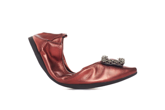 1318-6 Deep Red Foldable Crystal Flat