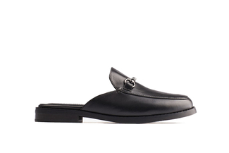17008-15 Black Slip-on Mules