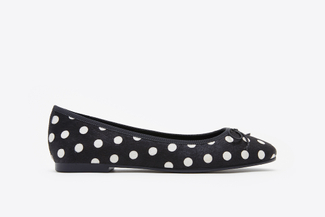 1718-45 Black Polka Dot Flats