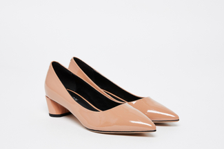1809-1 Nude Patent Leather Pointed Pumps