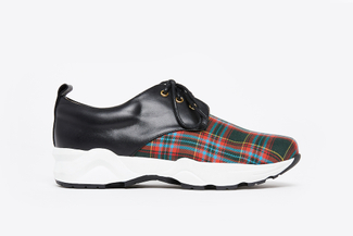 579-2 Black Tartan Plaid Sneakers