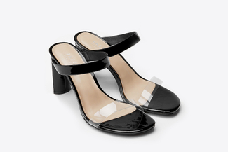 6009-202 Black Chic Breezy Slide Sandals