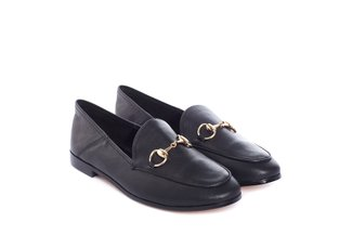678-1 Black Formal Loafer