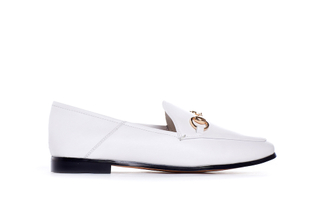 678-1 White Formal Loafer