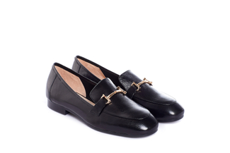 7399-6 Black Smart Loafer