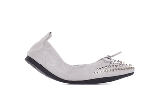 860-210 Grey Studded Foldable Flats