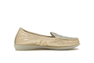 898-3 Gold Loafer