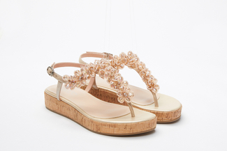999-4A Almond Stylish Platform Sandals