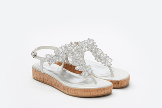 999-4A Silver Stylish Platform Sandals