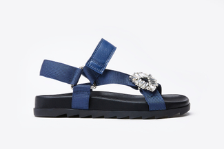 A122-215 Blue Striking Strappy Sandals