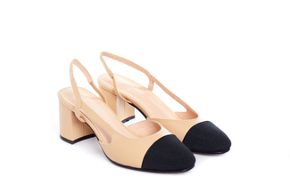 A569-3 Almond Block Heel