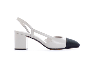 A569-3 Grey Block Heel