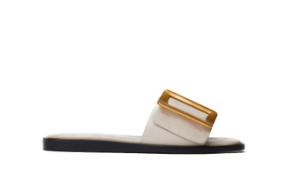 A81-2017 Beige Buckle Sandals