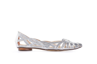 JS51-1G Silver Strappy Flat