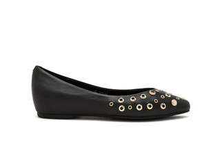 911-19 Black Casual Flat