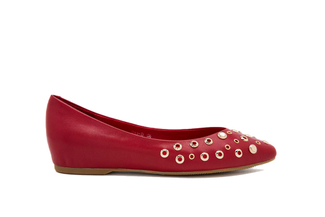 911-19 Red Casual Flat