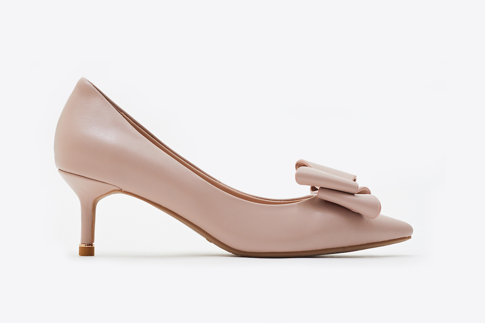 best loved cheap price utterly stylish 531-1 Pink Bow Front Kitten Heels