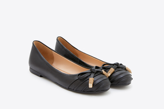 938-49 Black Dainty Bow Flats