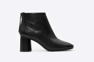 A720-505 Black Block Heel Boots