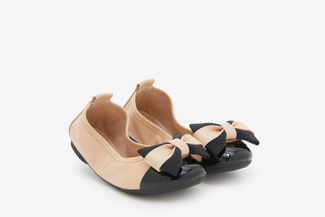 BB3869-2 Kids Almond Vintage Foldable Ballet Flats