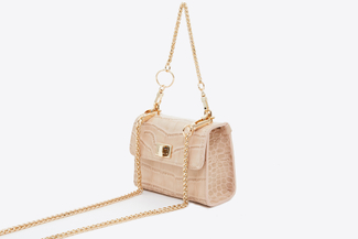 HY-48 Apricot Mini Chain Bag