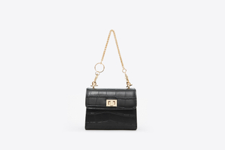 HY-48 Black Mini Chain Bag