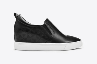 78-5 Black Classic Wedge Sneakers