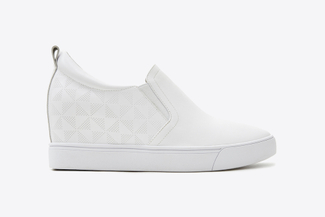 78-5 White Classic Wedge Sneakers