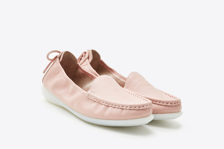 8AA67-1 Pink Slip-on Loafers