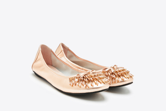 1299-7 Champagne Dazzling Gems Flats