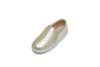 BB8927-126 Kids Gold Metallic Sneakers