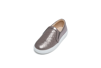 BB8927-126 Kids Pewter Metallic Sneakers