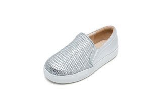 BB8927-178 KIDS SILVER EMBOSSED FLATS
