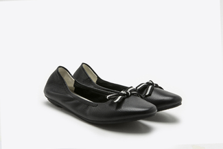 2018-1 Black Nautical Bow Front Flats