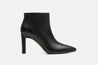 6655-503A Black Heeled Ankle Boots
