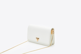 SB-D055 White Structured Boxy Handbag