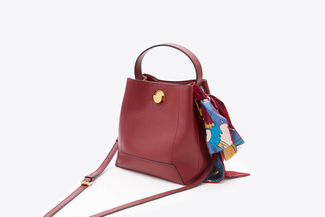 SB-D056 Wine Vintage Scarf Satchel Bag