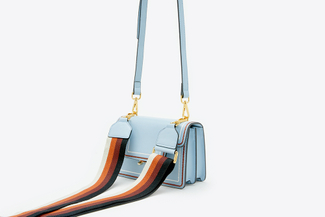 SB-D090 Blue Retro Satchel Crossbody